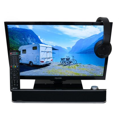 Camping TV with Soundbar or Headphones